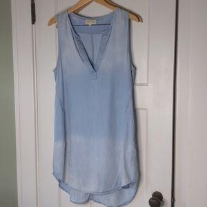 cloth & stone blue ombre shift dress L